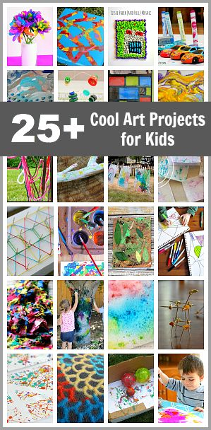 25+ Cool Art Projects for Kids: Art activities for kids of all ages using unique…