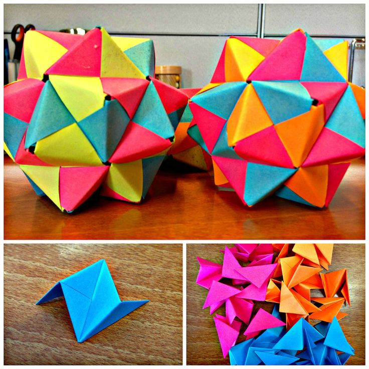 Post-It Origami Icosahedron