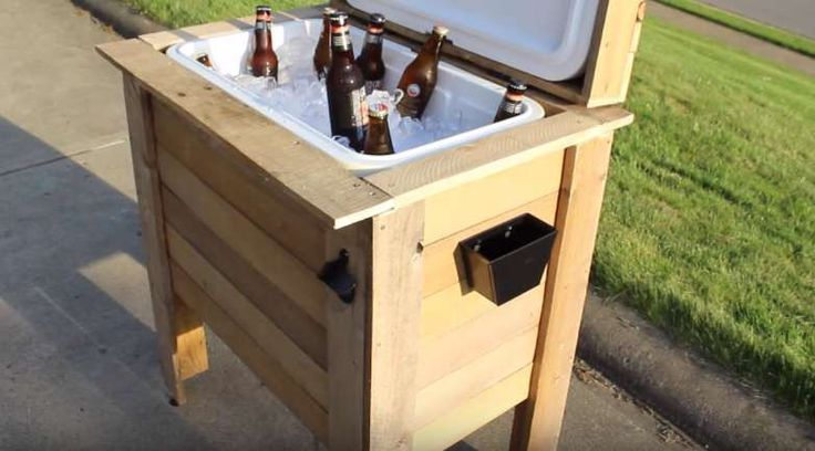 Place a bottle opener and a bottle cap receptacle | DIY Cooler Box | Coooolest P…