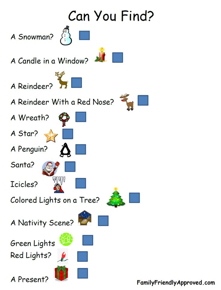 Here is a fun Christmas Light Scavenger Hunt printable.  What a great activity f…