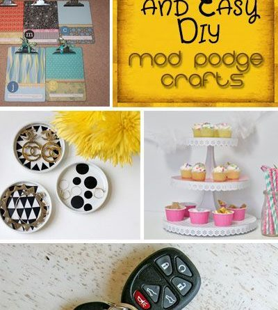 "~~} ""Cool and Easy DIY Mod Podge Crafts. These are so pretty! So much great…"
