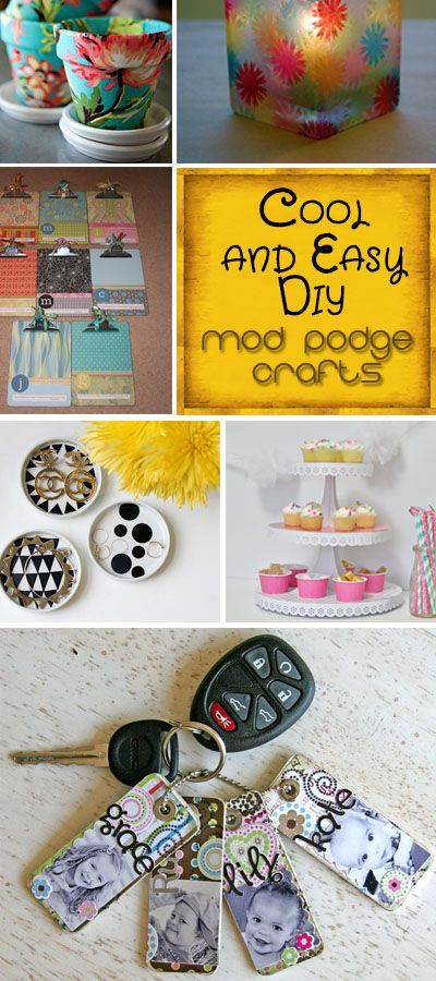 """~~} """"Cool and Easy DIY Mod Podge Crafts. These are so pretty! So much great…"""