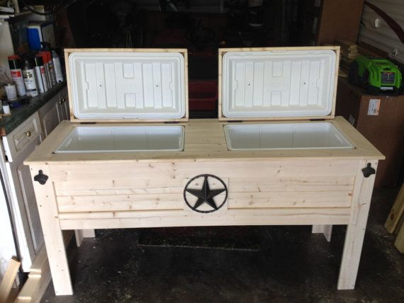 Double Wood Cooler Stand by CoolerTime on Etsy…