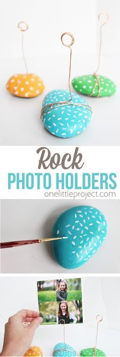 These ADORABLE photo holders take no time to make and are such a great kids craf…