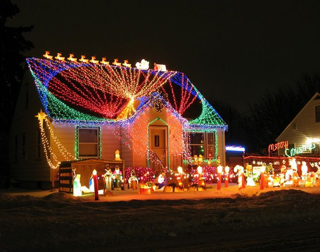 Crazy Christmas Lights: 15 Extremely Over-the-Top Outdoor Displays via Brit + Co…