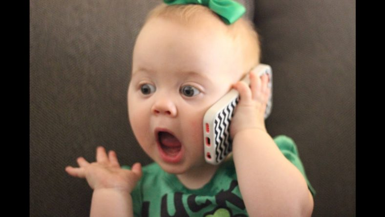 Funny Cute Babies Talking on the Phone Compilation