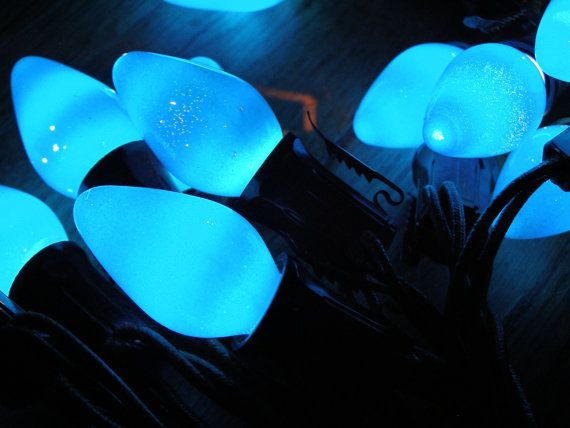 Vintage Paramount Blue Christmas Lights 10 Feet by MyHeartsHome, $12.00…