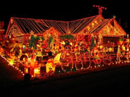 I want to be that one obnoxiously lit house on the block where everyone who dive…