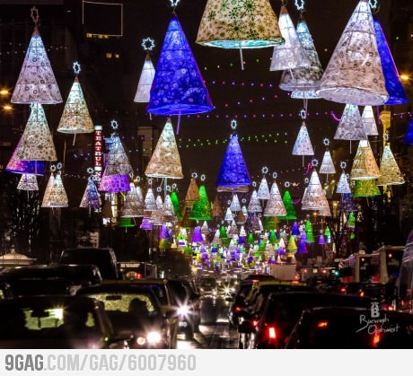 Christmas lights in Bucharest…