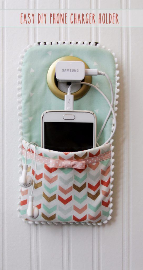 Best Sewing Projects to Make For Girls – Easy DIY Phone Charger Holder – Creativ…