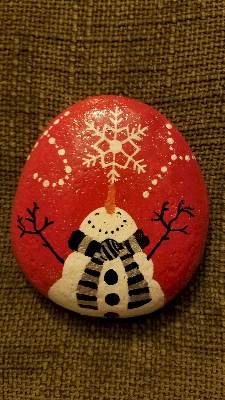 Adorable 54 Easy DIY Christmas Painted Rock Ideas roomadness.com/……