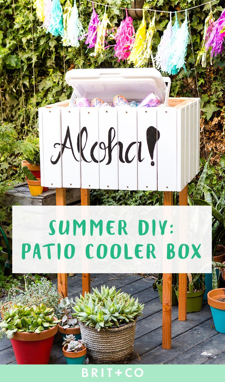 Save this summer DIY project to learn how to make an outdoor cooler box for your…