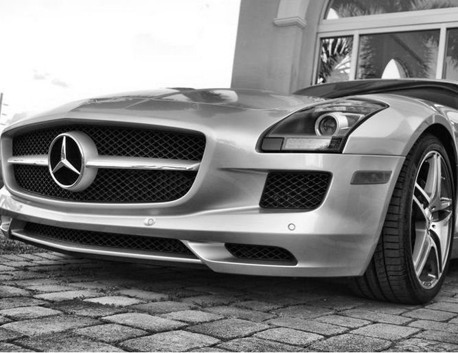 Ultimate Style with the Mercedes SLS AMG! #BlackandWhite www.ebay.com/… #spon…