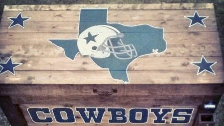 Another custom made 150qt Dallas Cowboys cooler box handmade n hand painted….