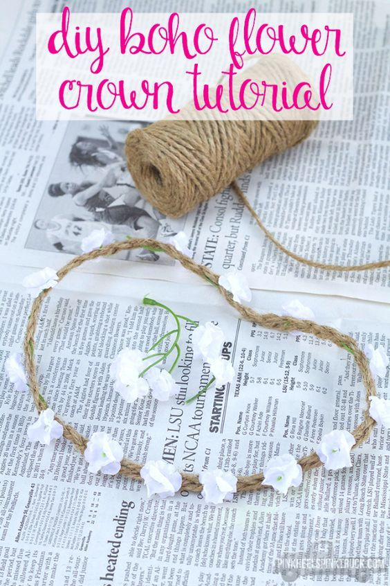 DIY Projects for Teenagers – DIY Boho Flower Crown – Cool Teen Crafts Ideas for …