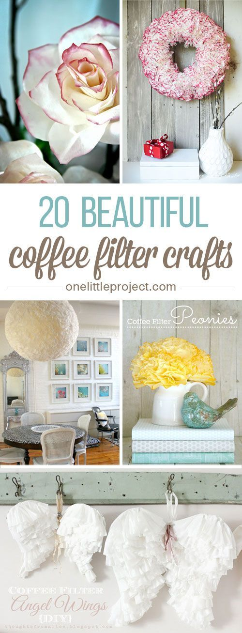 20 Beautiful Coffee Filter Crafts – Even if you don't drink coffee, you are …