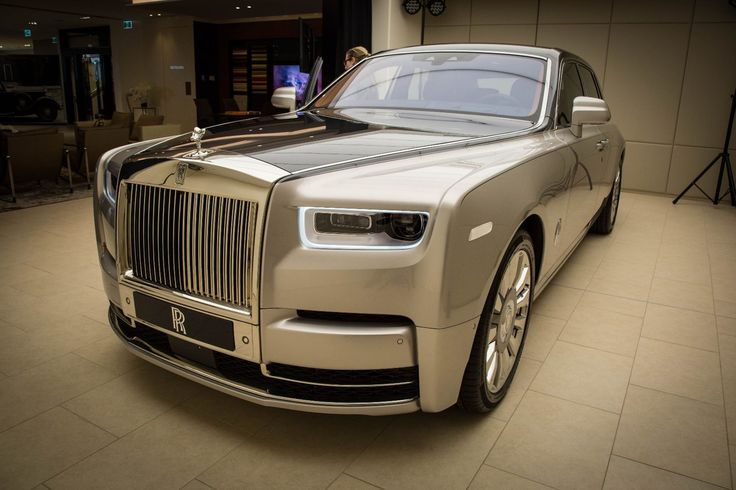 The nose of the new Rolls-Royce Phantom…