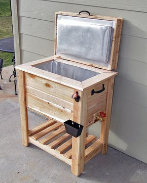 Rustic Cedar Fence Picket Deck/Porch Cooler/Icebox! A must for summer!…