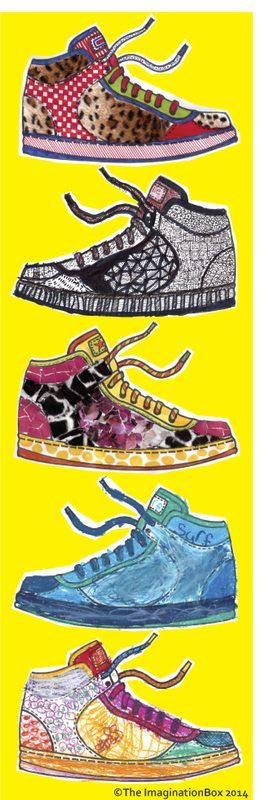 design your own sneakers! free pdf download activity sheet, great for kids of al…