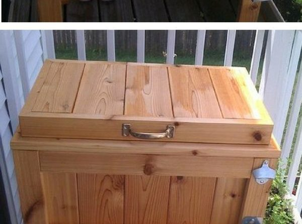Check out how to build a DIY patio cooler stand Industry Standard Design…