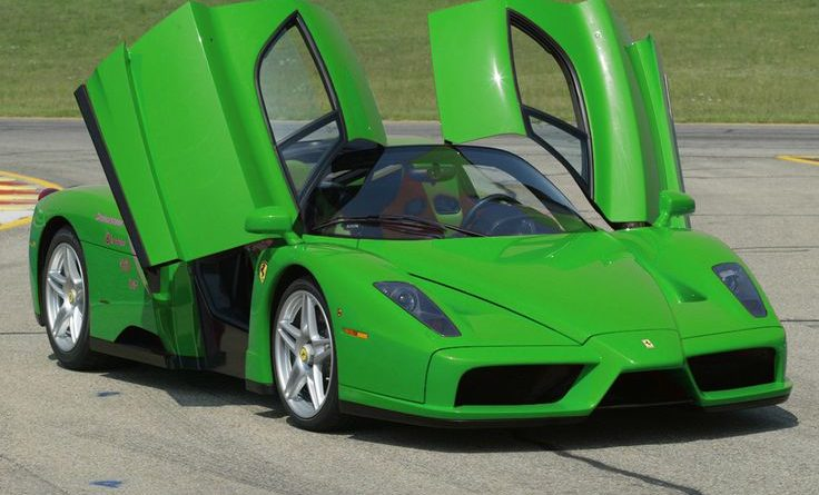 Ferrari Enzo…  A green million dollar car!…