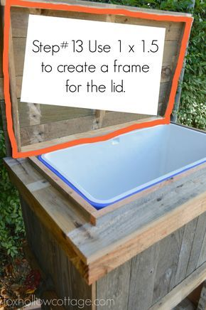 DIY Wood Deck Cooler – The Lid #thehomedepot #3MPartner #ad…