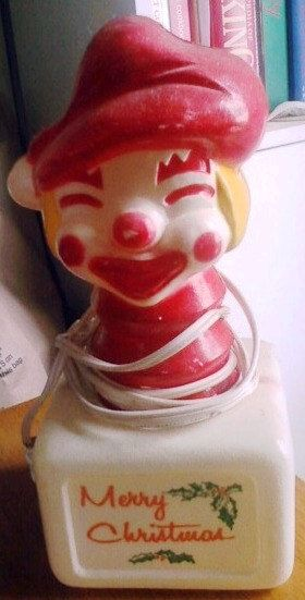 Rare Vintage Christmas Elf Lighted Blow Mold by ShopHereVintage…