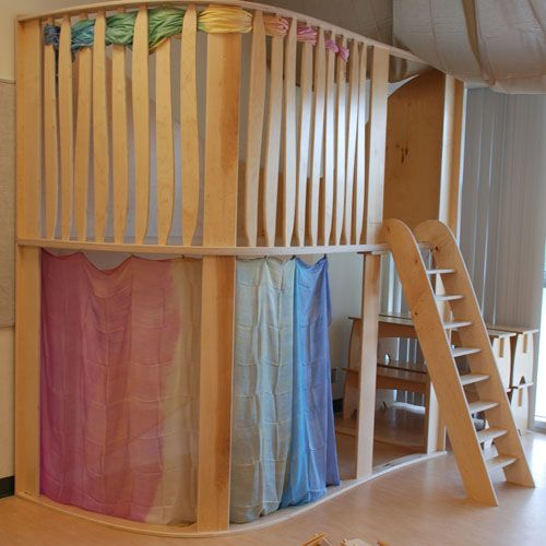 The addition of a loft and ladder to the indoor classroom can make a huge differ…