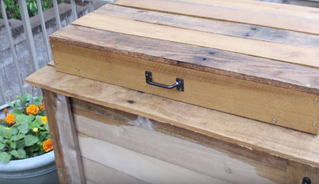 Step 12: Add A Handle To The Lid | DIY Cooler Box | Coolest Pallet Project For Y…