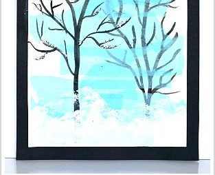 Silhouette Winter Tree Art Project for Kids: Really cool art activity using tiss…