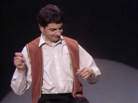 Rowan Atkinson Live – Star of Mr.Bean – Funny invisible drum