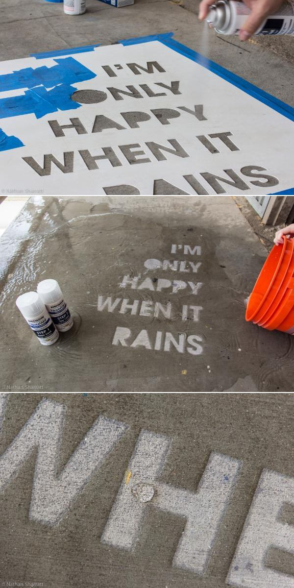 Rustoleum's NeverWet can be use to write secret messages that stay invisible…