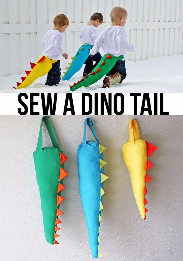 Best Sewing Projects to Make For Boys – Sew A Dino Tail – Creative Sewing Tutori…