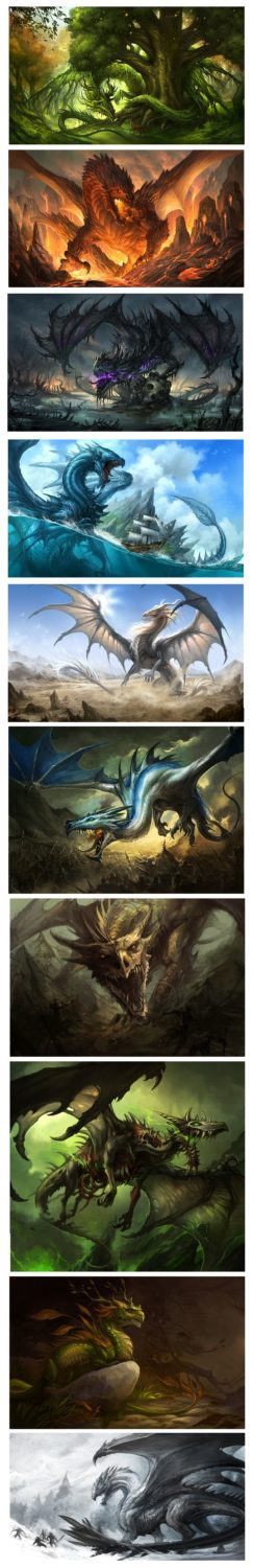 Dragons. These are super cool! Except for the scary zombie dragon. That is not c…