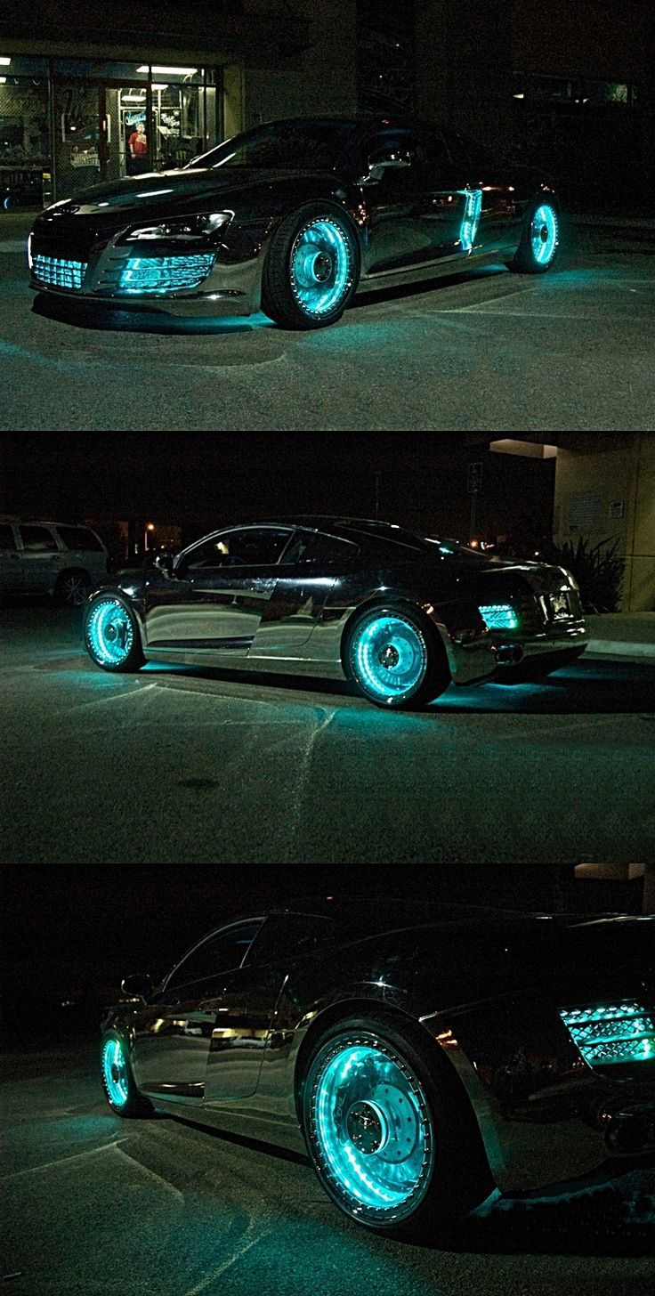 Customized Tron-Styled Audi R8 holy cowwwwwwwwwwwww that is totally the car I am…