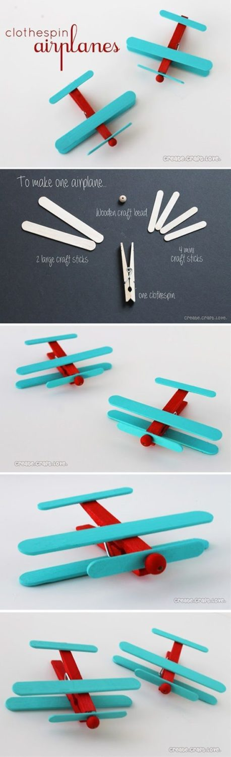 Clothespins are awesome, a lot of creative crafts can be done with them, and the…