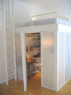 Loft Bed with Closet | Awesome loft bed with closet and desk underneath…
