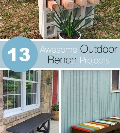 13 Awesome Outdoor Bench Projects, Ideas  Tutorials!…