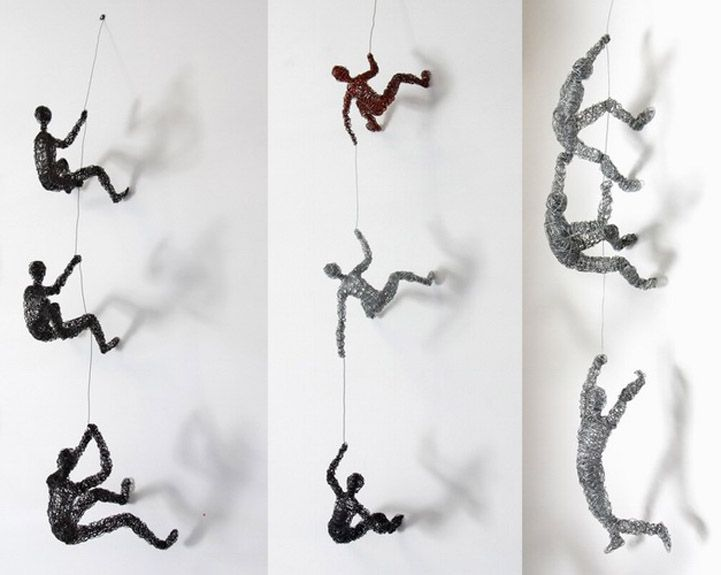 Little Wire People Climbing Everywhere by Chris Mason…