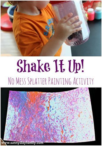 Shake It Up: no mess painting for kids! An easy, fun art project toddlers & …